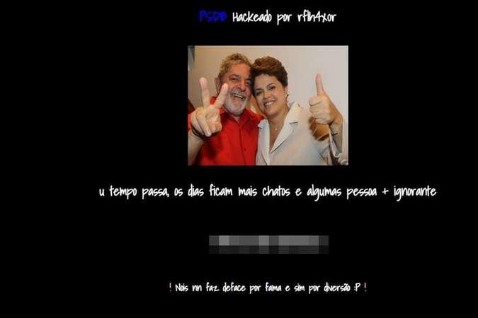 Página do PSDB é hackeada, e tem foto de Lula e Dilma juntos