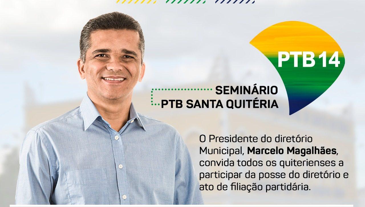 Seminário PTB Santa Quitéria com a participação do presidente do PTB Estadual Arnon Bezerra