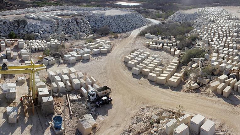 Exportação de pedras ornamentais de Santa Quitéria aumenta 450% em um ano
