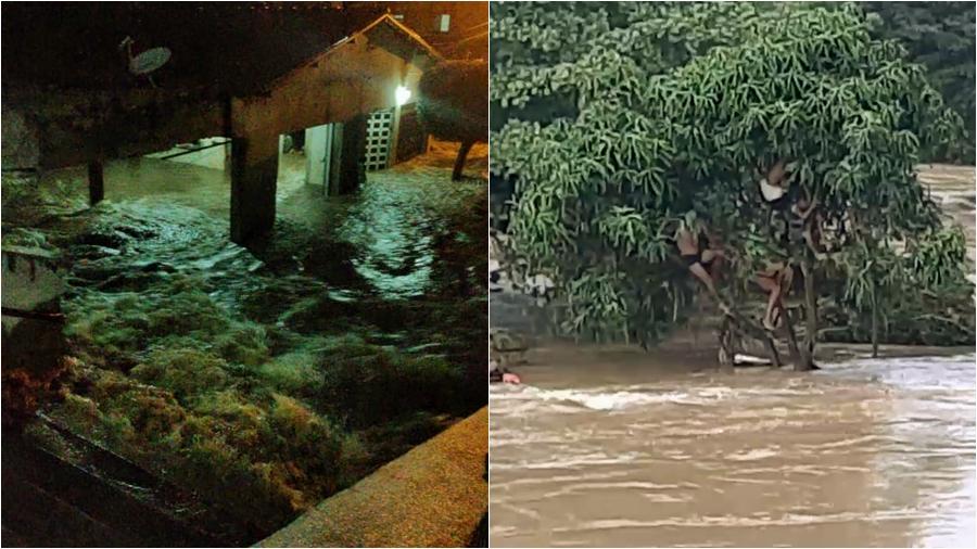 """Chuva forte atinge Hidrolândia na madrugada e 40 famílias estão desalojadas""""Veja o Vídeo"""""""