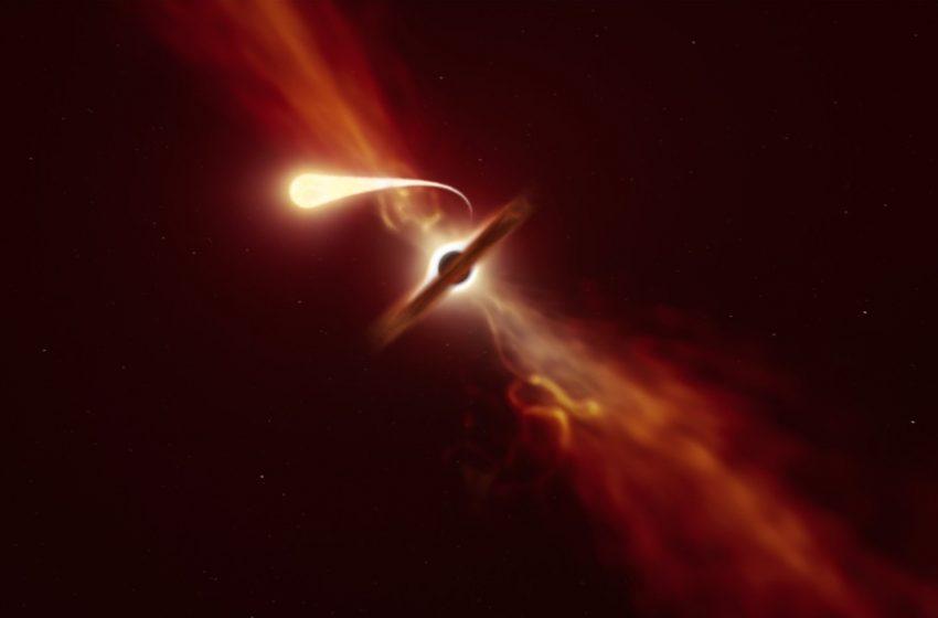 Telescópios registram momento em que estrela é engolida por buraco negro