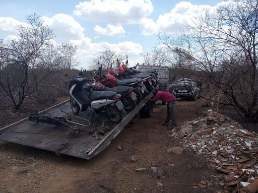Dupla é capturada e 7 motos roubadas são recuperadas em Sobral