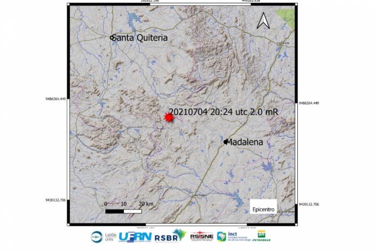 Tremor de terra com magnitude 2.0 é registrado no interior de Santa Quitéria